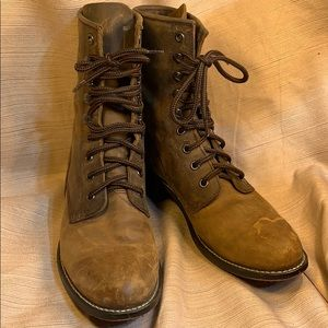Durango lace up ankle aged leather boots quality